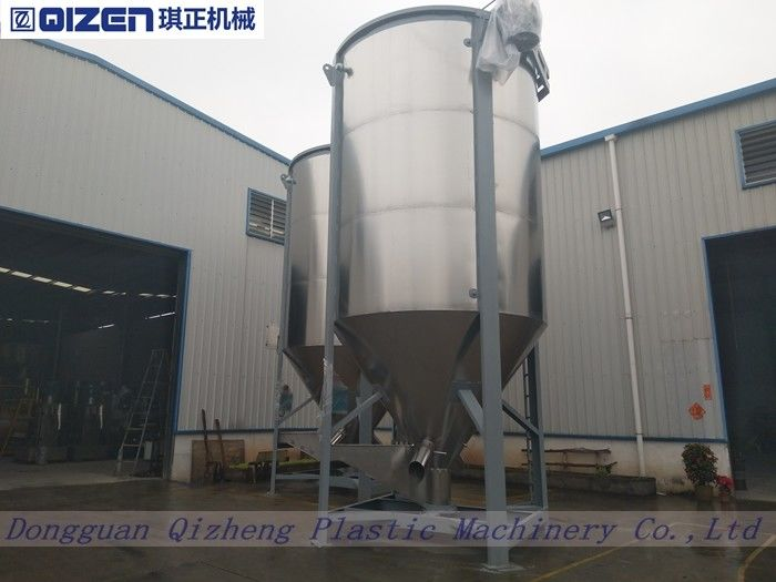 15 Tons Animal Vertical Feed Mixers , Fixed Cow Food Feed Mixing Equipment