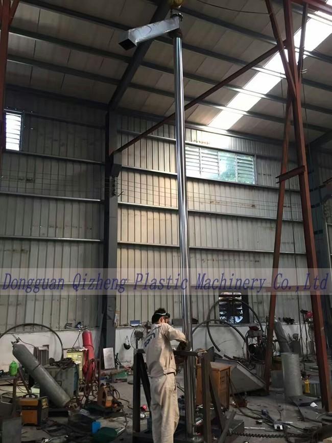 Plastic Material Flexible Spiral Conveyor , Customized Size Grain