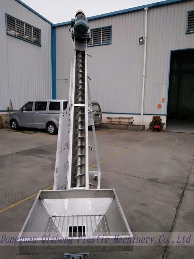 Loading Distance Plastic Powder Flexible Screw Conveyor Loader For Mixers